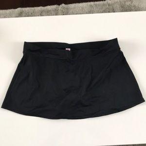 Tropical escape black swimsuit swim skirt sz 10